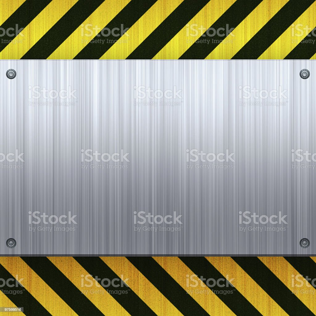 Hazard Stripes Brushed Metal royaltyfri bildbanksbilder