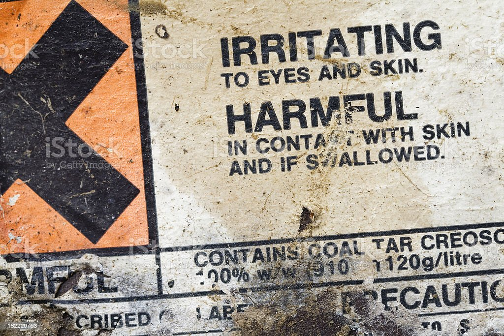 Hazard warning label. royalty-free stock photo