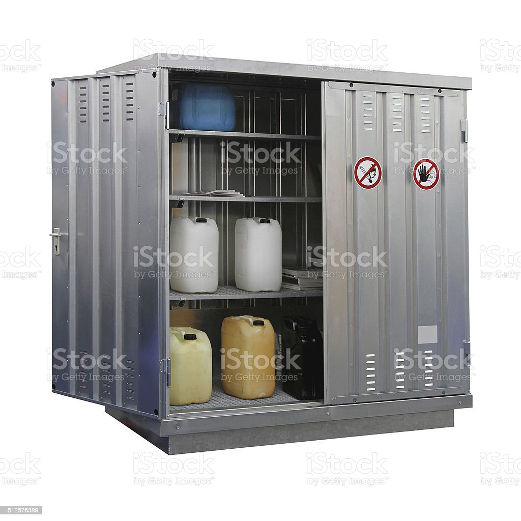 Hazardous materials storage stock photo