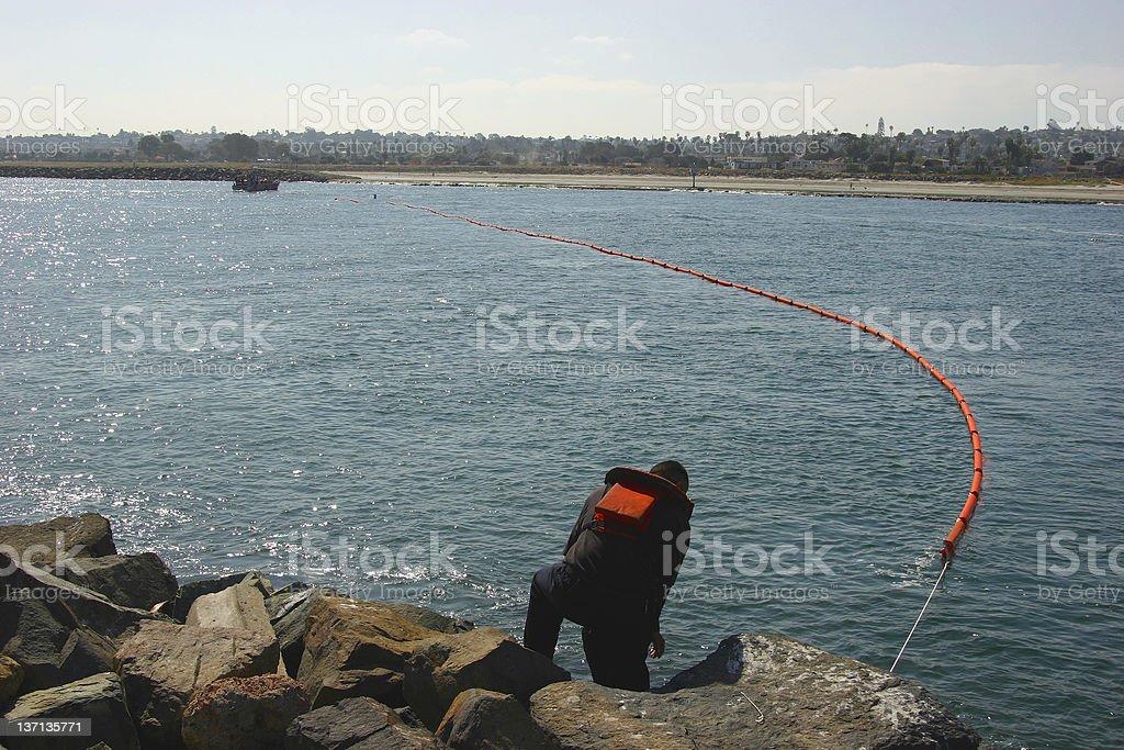 Hazardous Spill Containment royalty-free stock photo