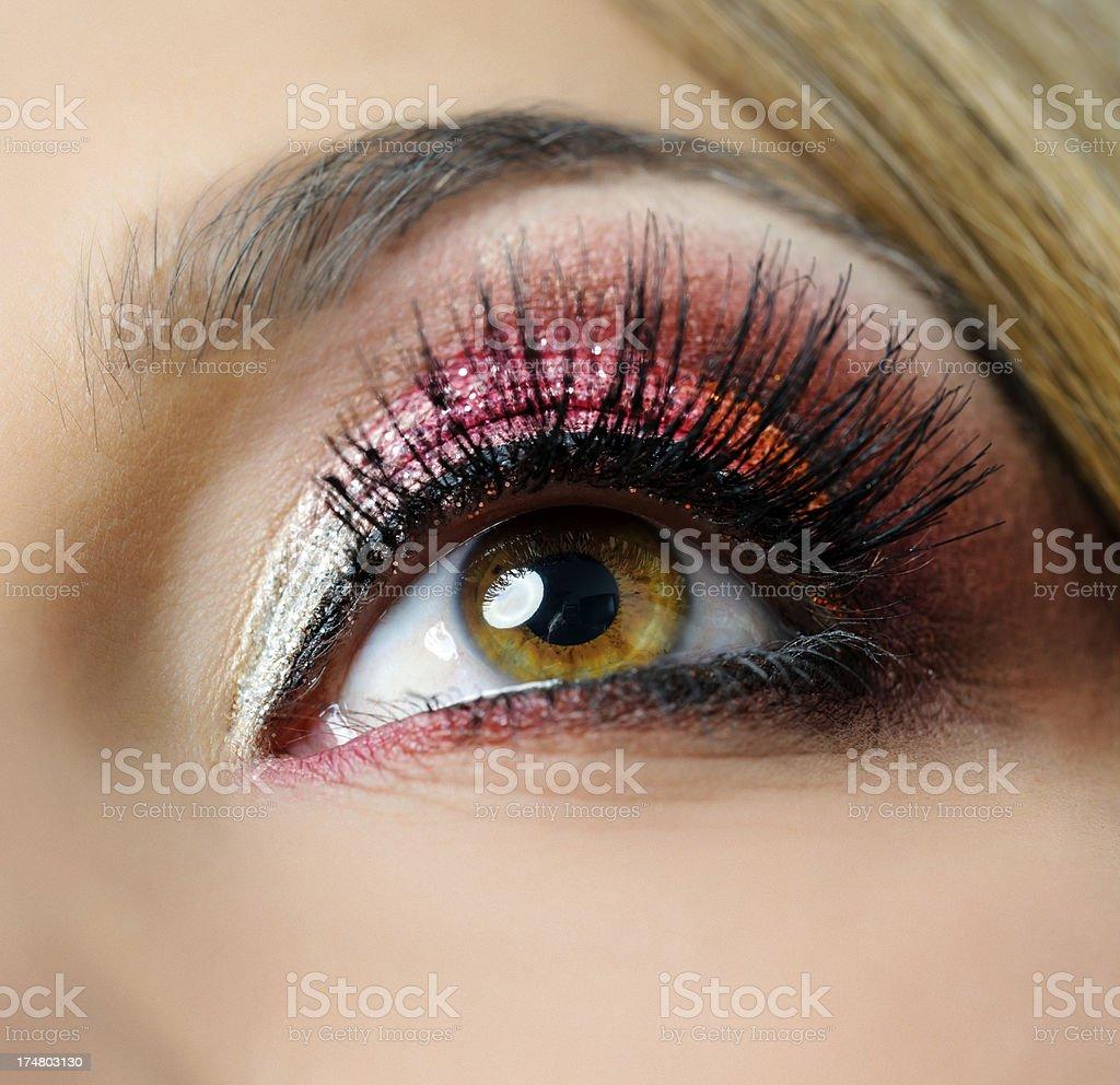 hazel eye royalty-free stock photo