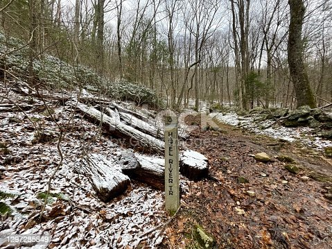 istock Hazel River Trail - Shenandoah National Park: Winter Hiking Path 1297285849