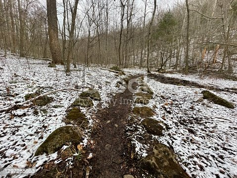 istock Hazel River Trail - Shenandoah National Park: Winter Hiking Path 1297285983