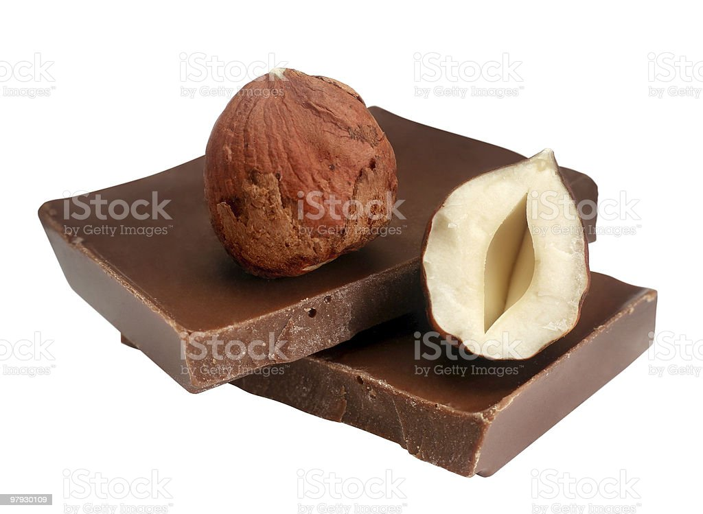 Hazelnut & chocolate royalty-free stock photo