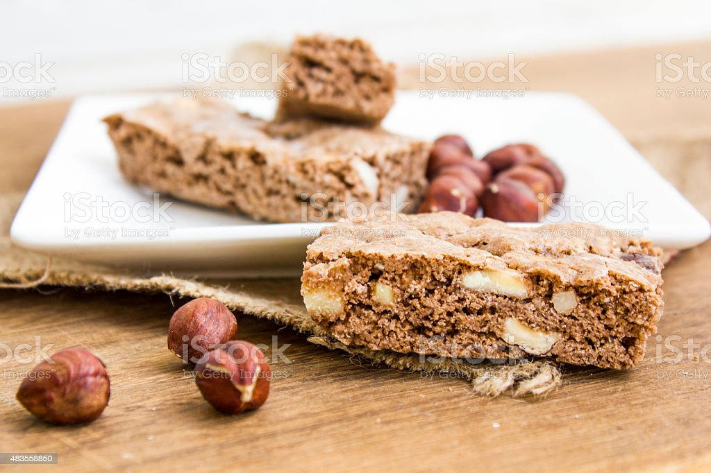 hazelnut biscotti stock photo