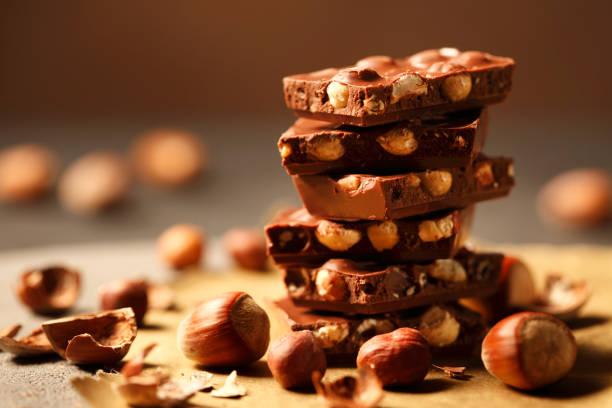 Haselnuss-Schokolade – Foto