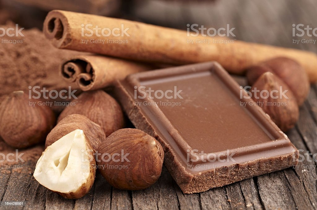 Hazelnut Cinnamon and Chocolate royalty-free stock photo