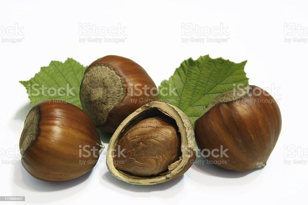 Hazelnut composition on a white background. royalty-free stock photo