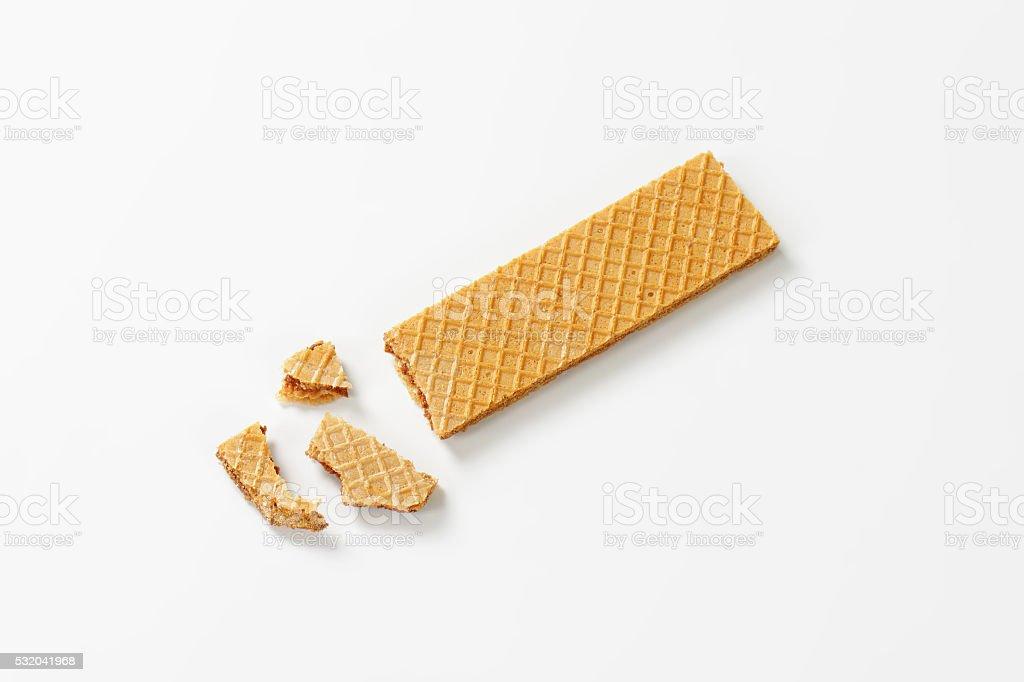 hazelnut cream wafer stock photo
