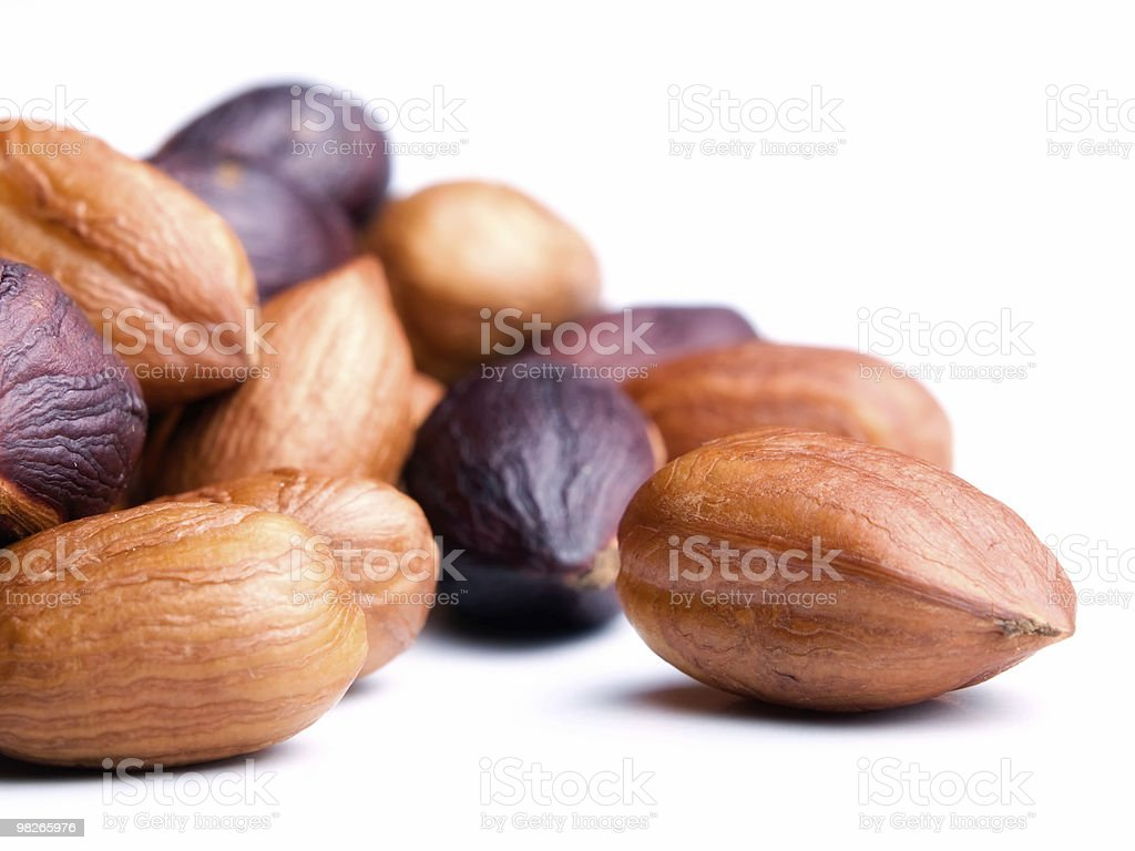 Hazelnut kernels royalty-free stock photo