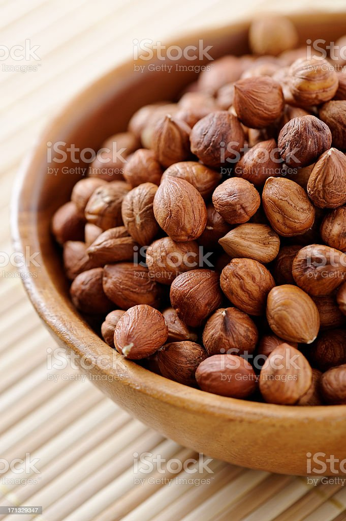Hazelnut stock photo