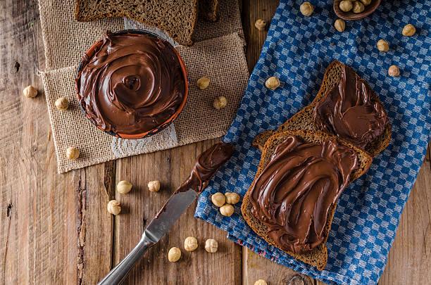 Hazelnut spread delicious - foto de stock