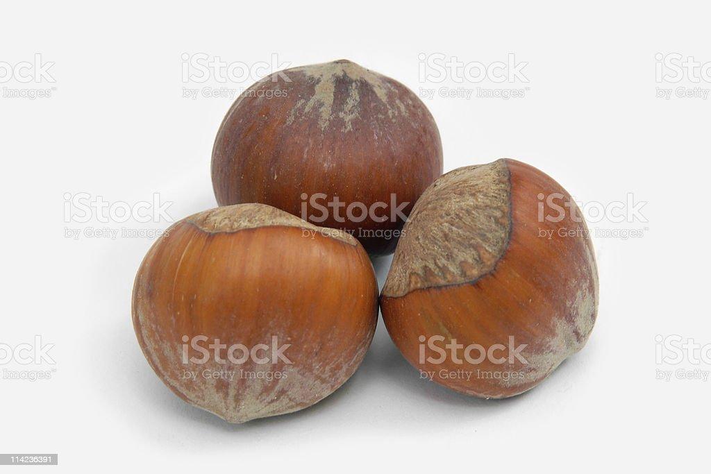 Hazelnuts 0 royalty-free stock photo