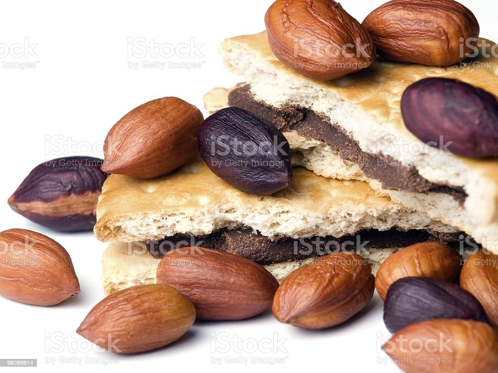 Nocciola e i cookie foto stock royalty-free