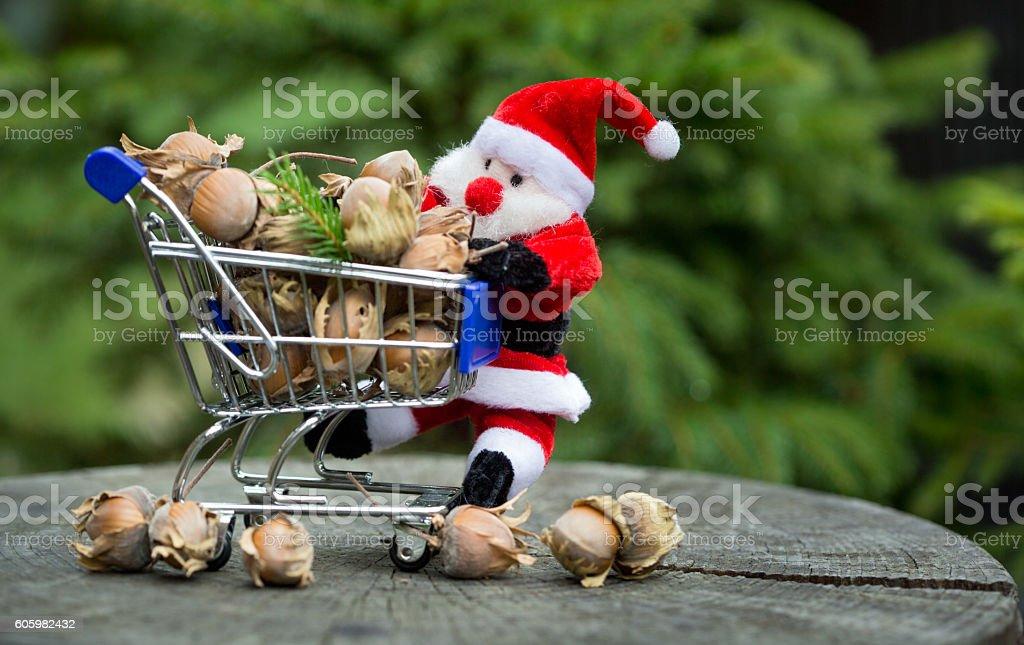 Hazelnuts from Santa Claus stock photo