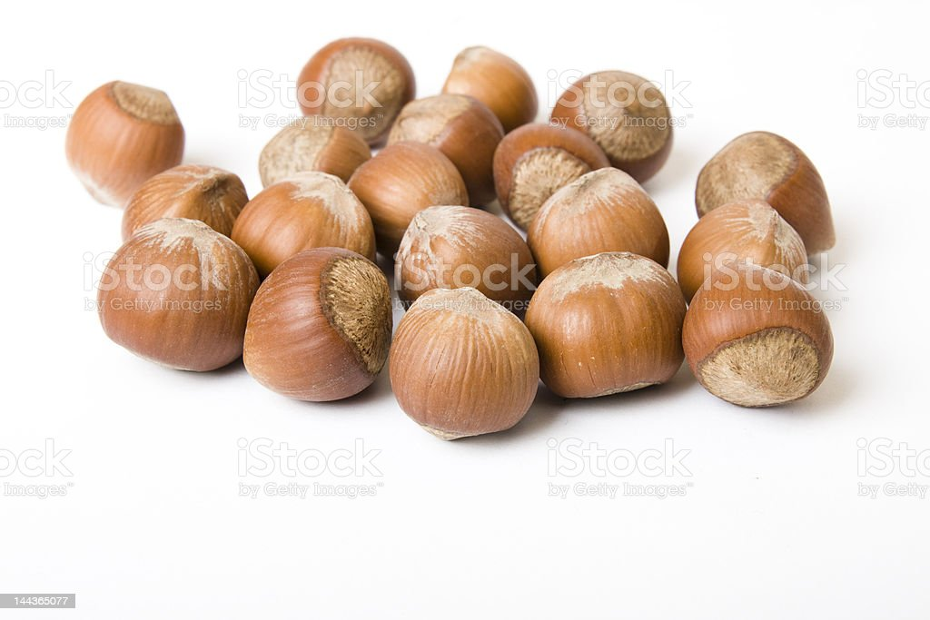 hazelnuts isolated royalty-free stock photo