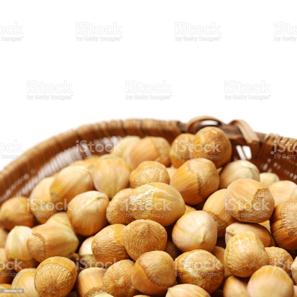 Hazelnuts on white background - Royalty-free Alimentação Saudável Foto de stock