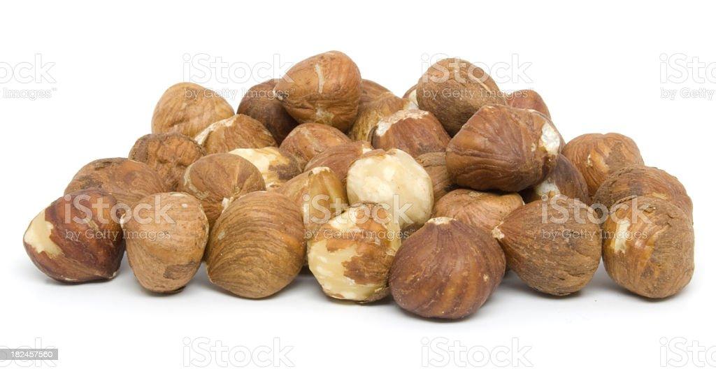 Hazelnuts royalty-free stock photo