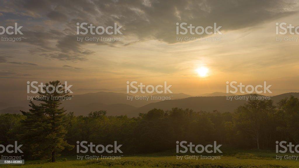Hazeltop Sunset stock photo