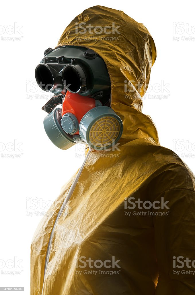 Hazmat Suit stock photo