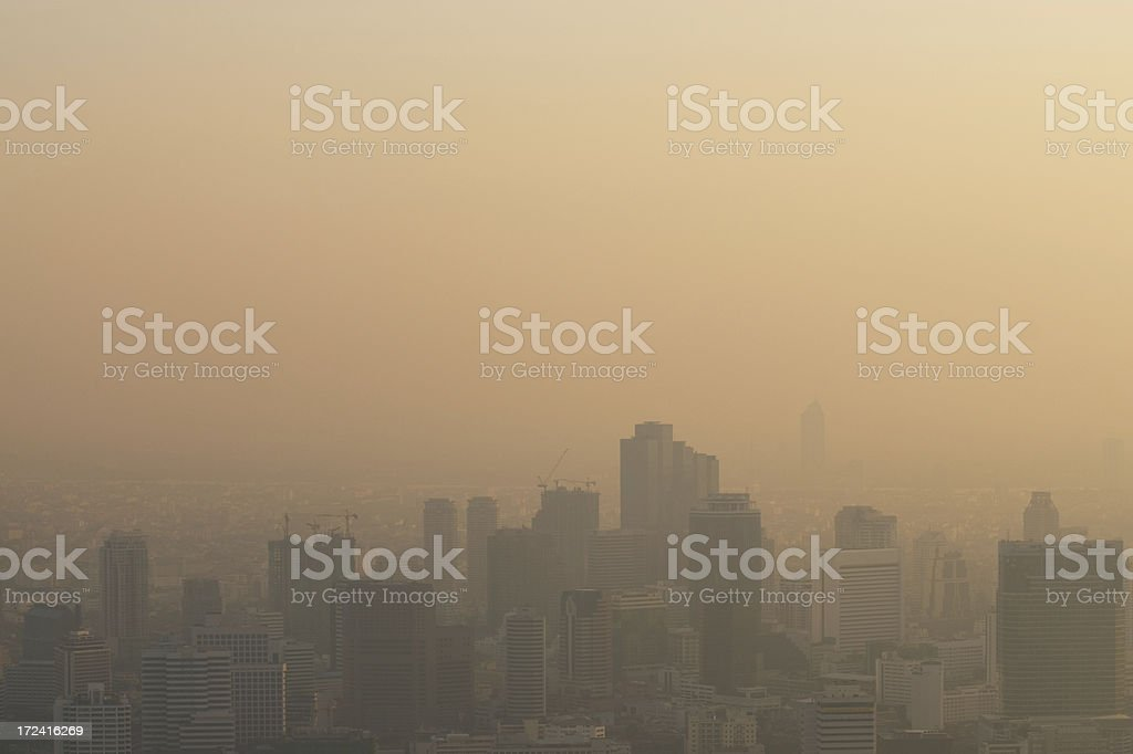 Hazy Bangkok royalty-free stock photo