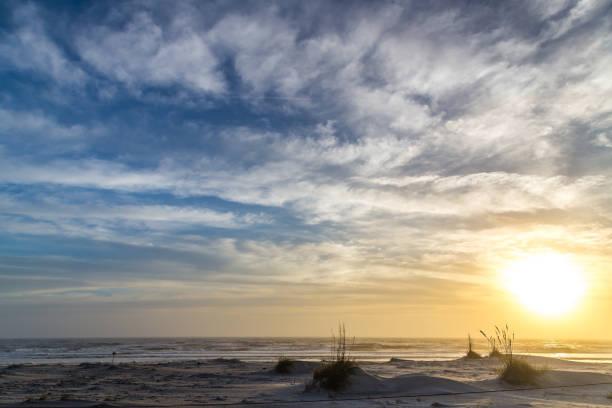 Hazy Beach Morning stock photo