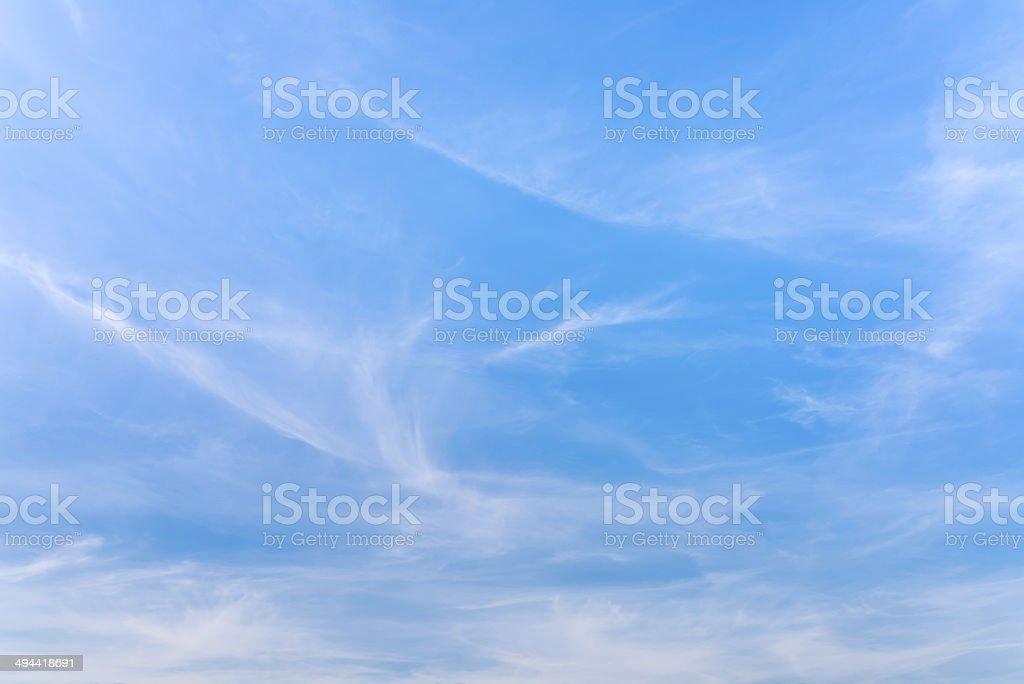 Hazy blue summer sky background stock photo