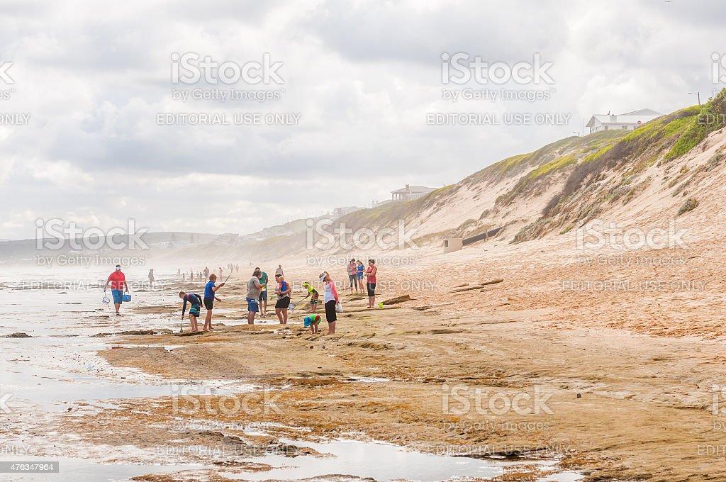 Hazy day at the beach in Reebok stock photo