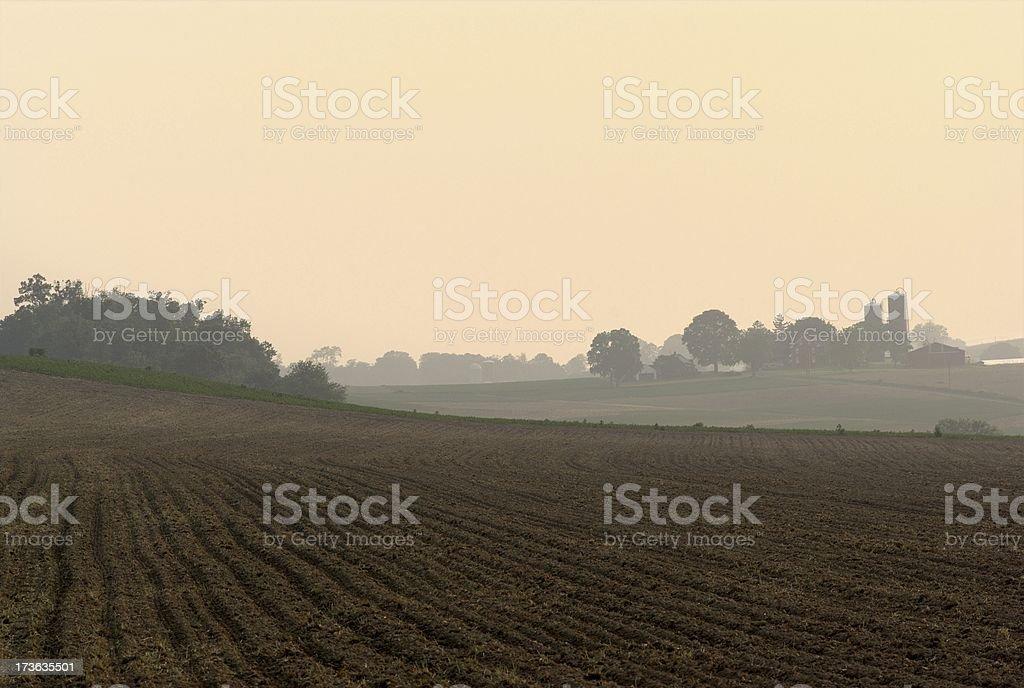 Hazy Evening stock photo