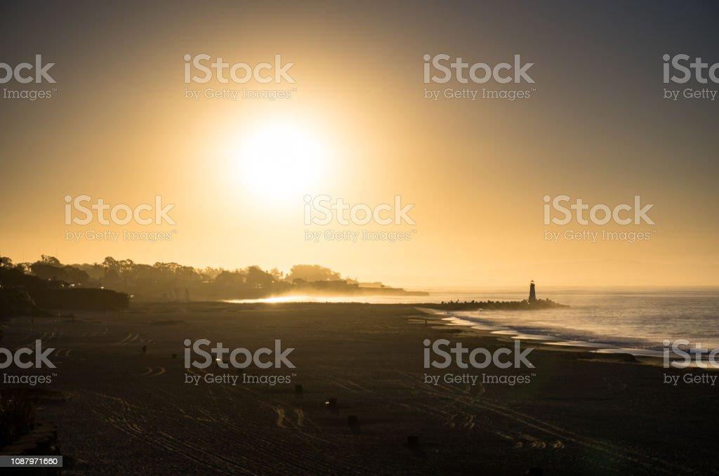 Hazy Morning in Santa Cruz stock photo