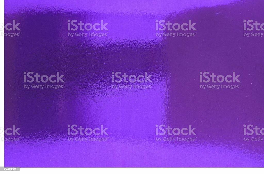 Hazy Reflection On Purple Metallic Foil royalty-free stock photo
