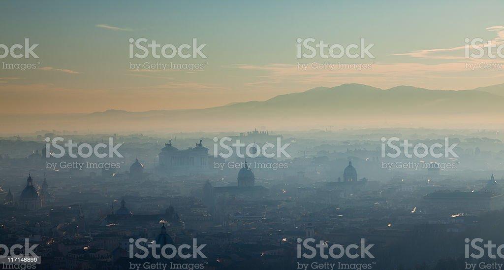 Hazy Rome royalty-free stock photo