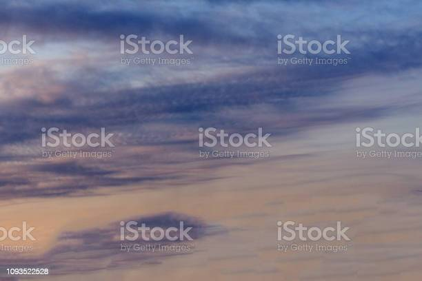 Photo of A hazy sunset in an Australian sky over the darkened sea at Ocean Beach, Bunbury, Western Australia in late winter adds fleeting color to the sky scape as evening approaches.
