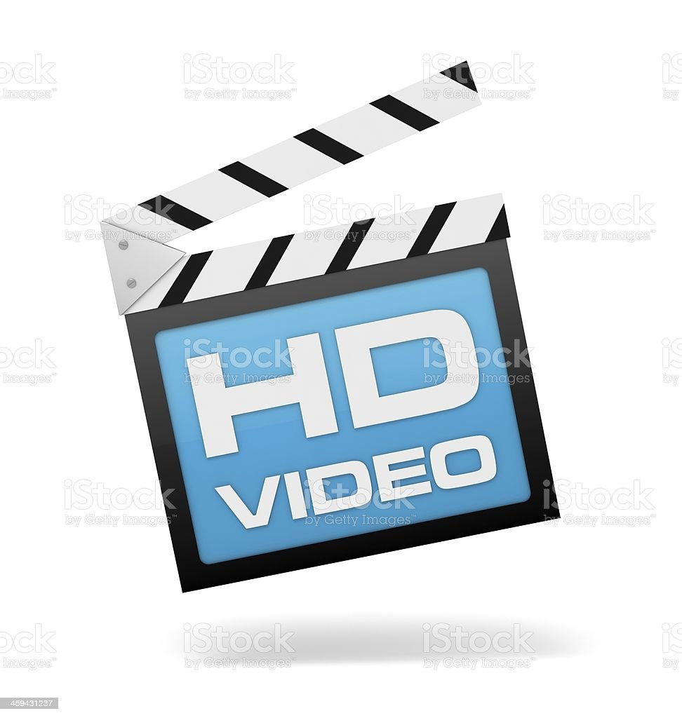 hd video clapboard stock photo