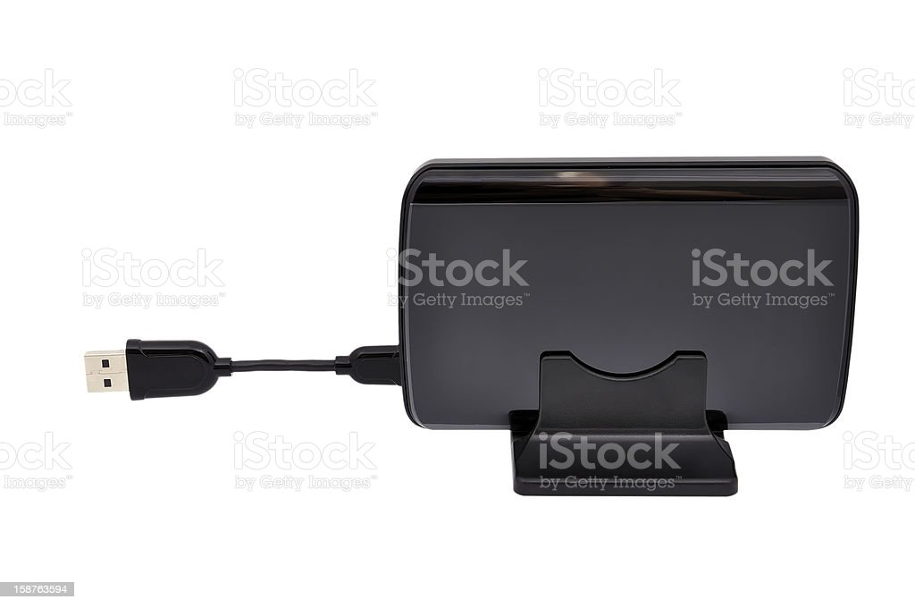 hdd and cable royalty-free stock photo