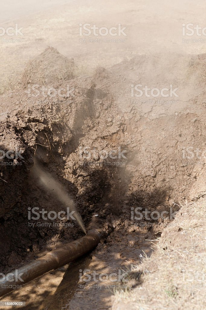 HDD-Horizontal Directional Drilling- Bentonite Pressure stock photo
