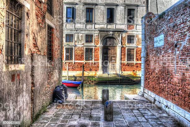 hdr backstreet in Venice, Italy
