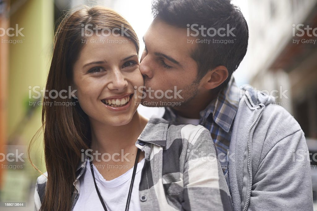 He adores her stock photo