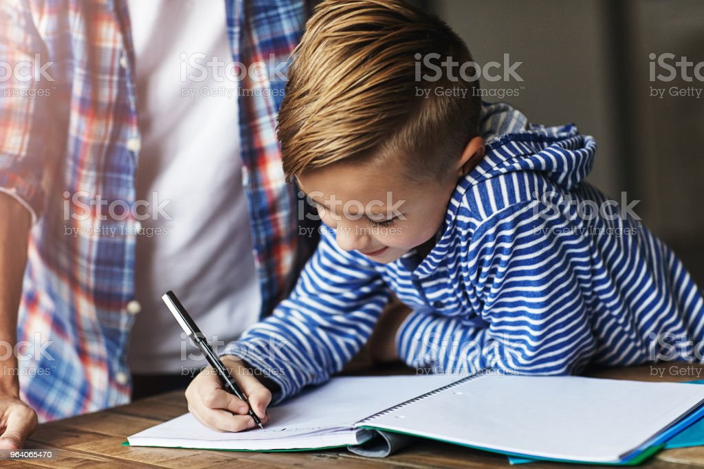 He always does his homework on time - Royalty-free Adult Stock Photo