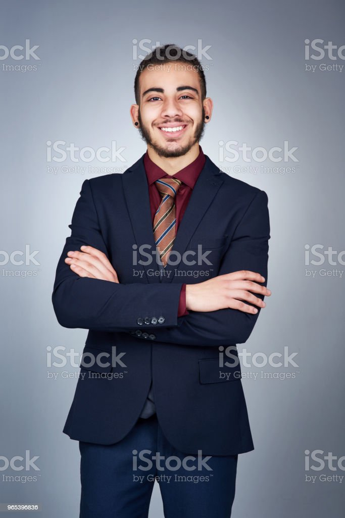 He always knew he wanted to be in business royalty-free stock photo