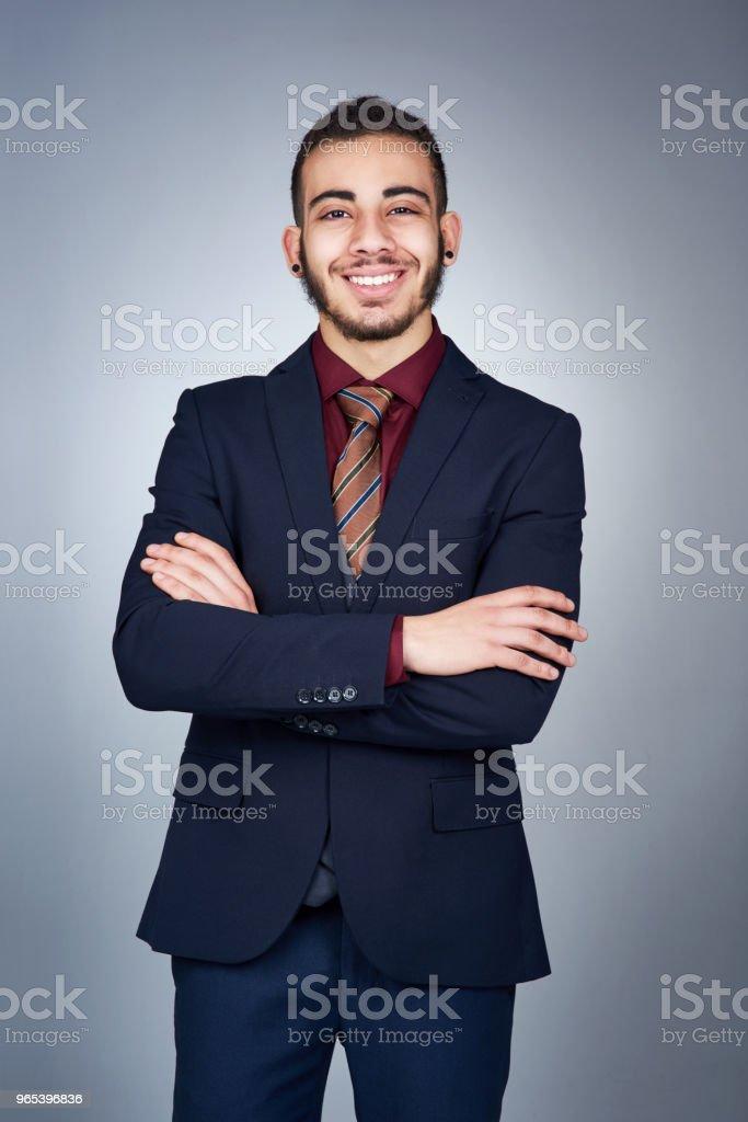 He always knew he wanted to be in business zbiór zdjęć royalty-free