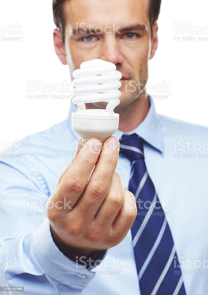 He believes in energy efficient business royalty-free stock photo