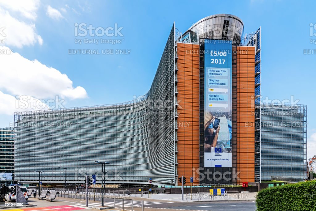 he Berlaymont office building stock photo