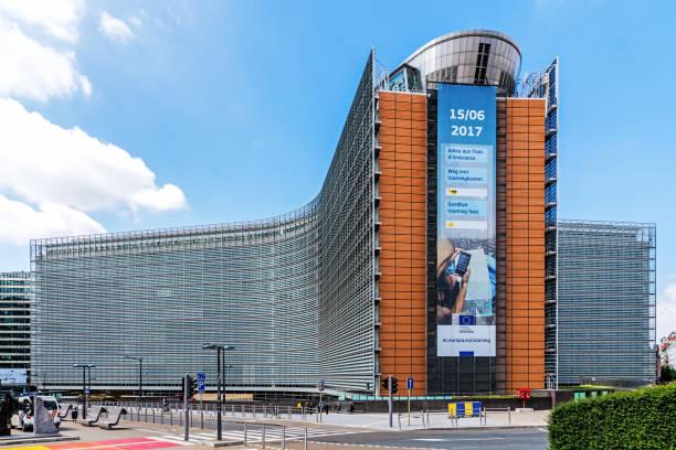 él oficina de Berlaymont edificio - foto de stock