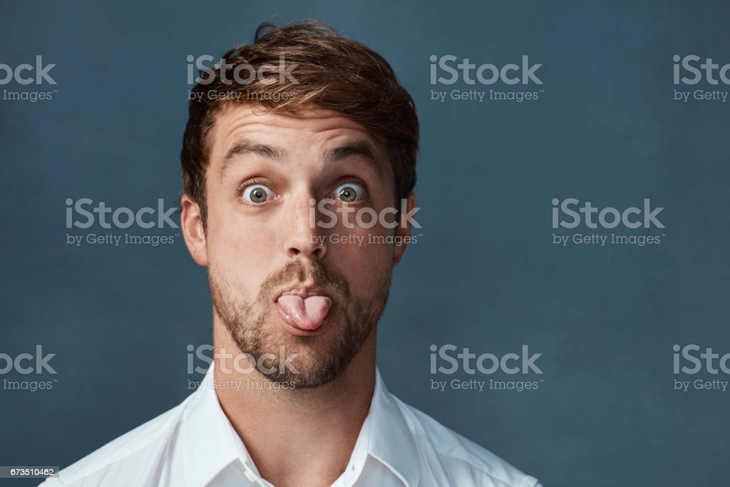 He can be a little cheeky at times foto stock royalty-free