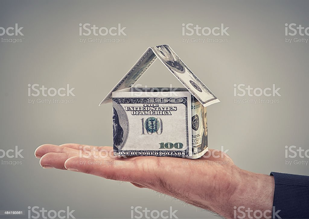 He can buy his dream home now stock photo