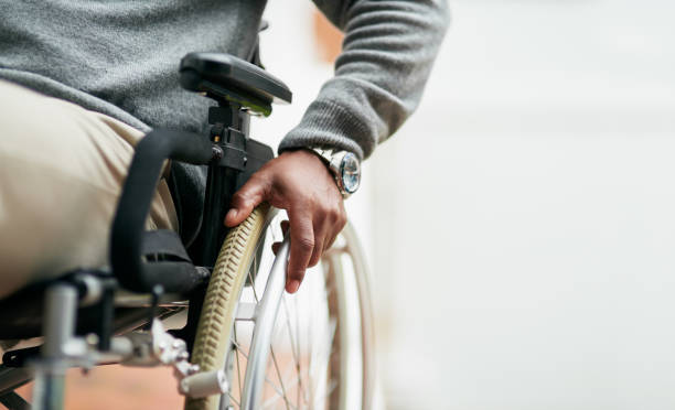 he can still get around - wheelchair stock photos and pictures