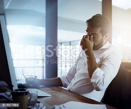 istock He can't take much more of this 913327664