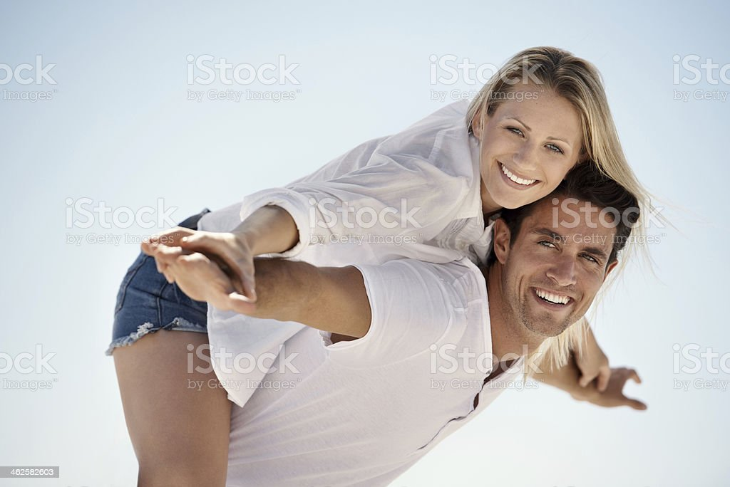 He carries me through any trouble royalty-free stock photo