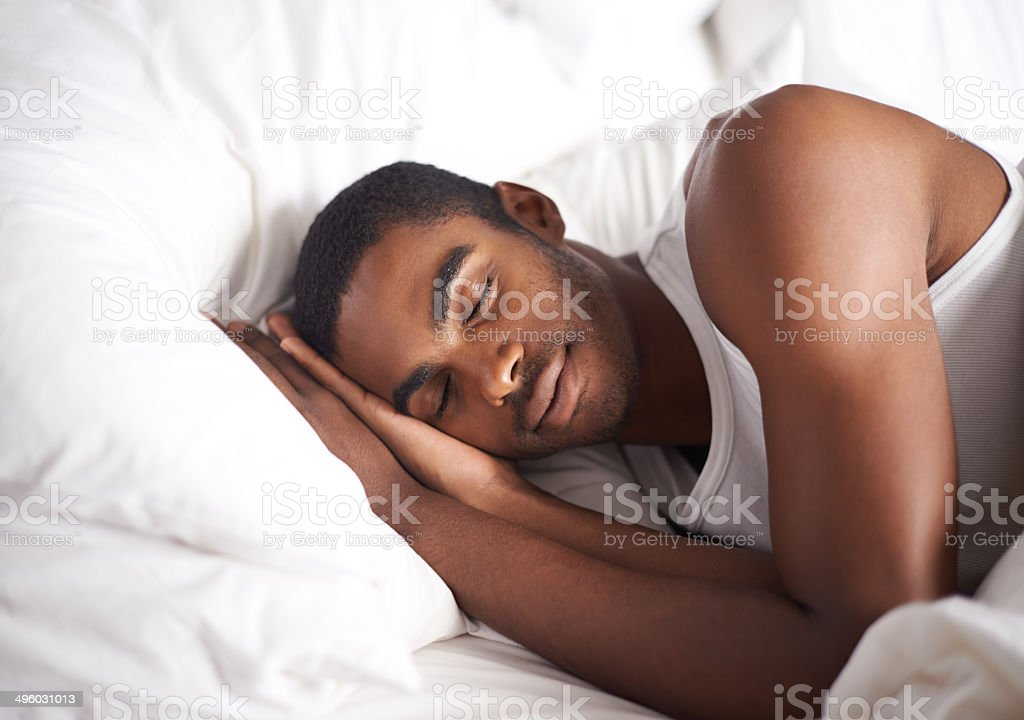 He could sleep the whole day away royalty-free stock photo